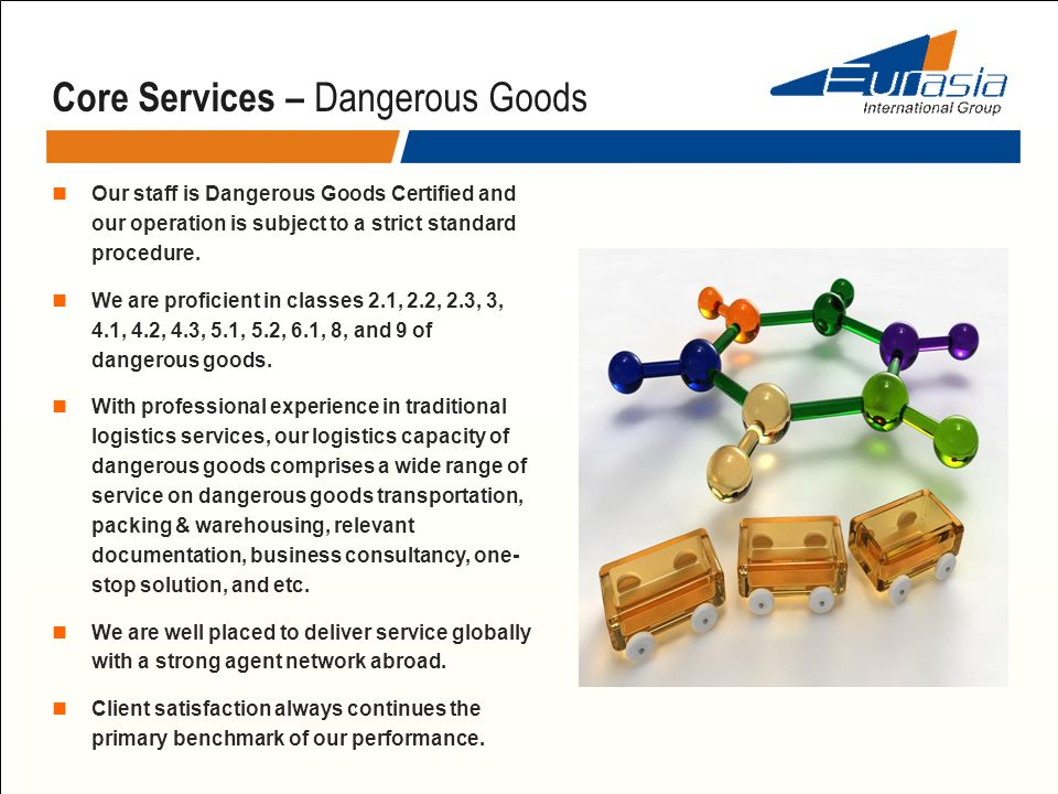 Core Services – Dangerous Goods