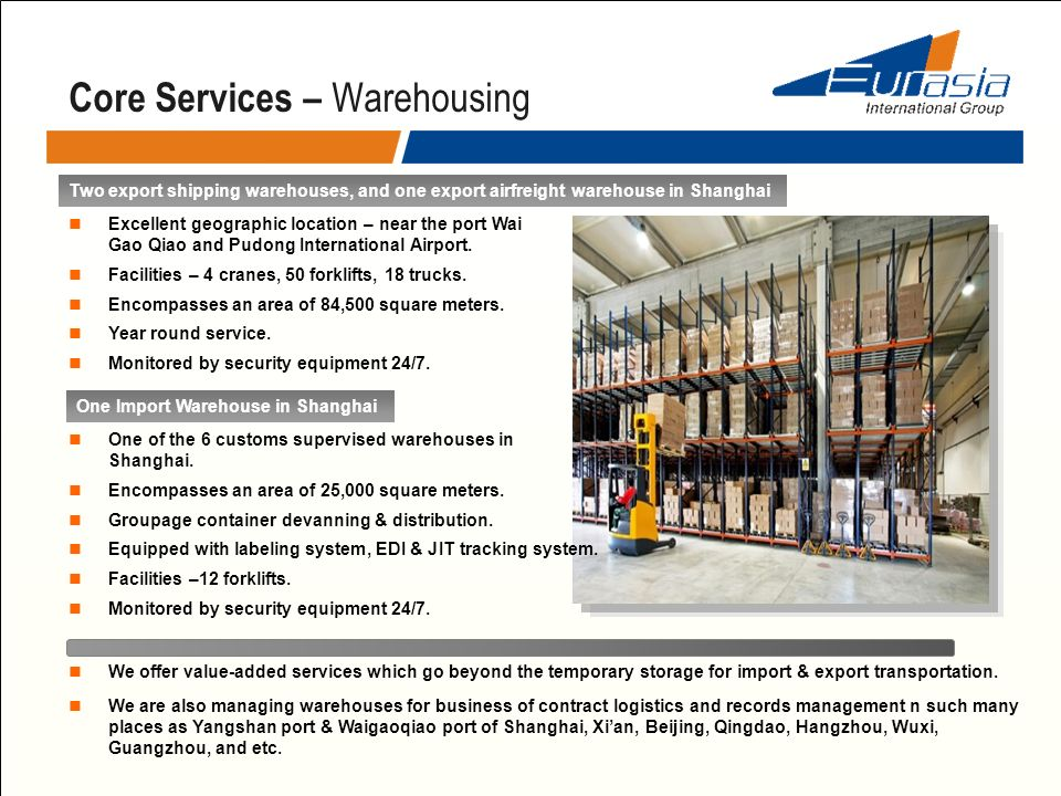 Core Services – Warehousing