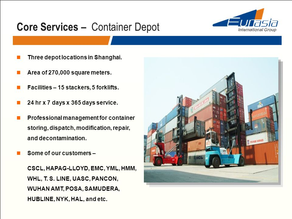 Core Services – Container Depot