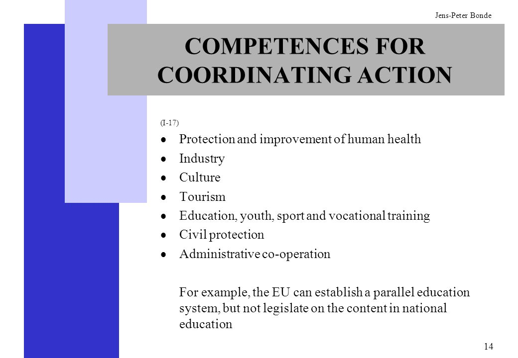 COMPETENCES FOR COORDINATING ACTION