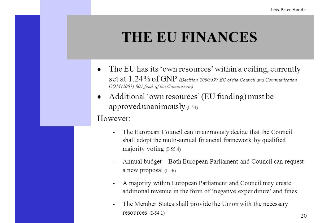 THE EU FINANCES