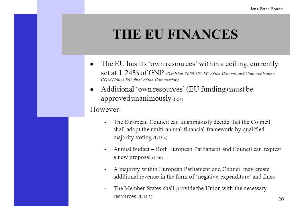 THE EU FINANCES