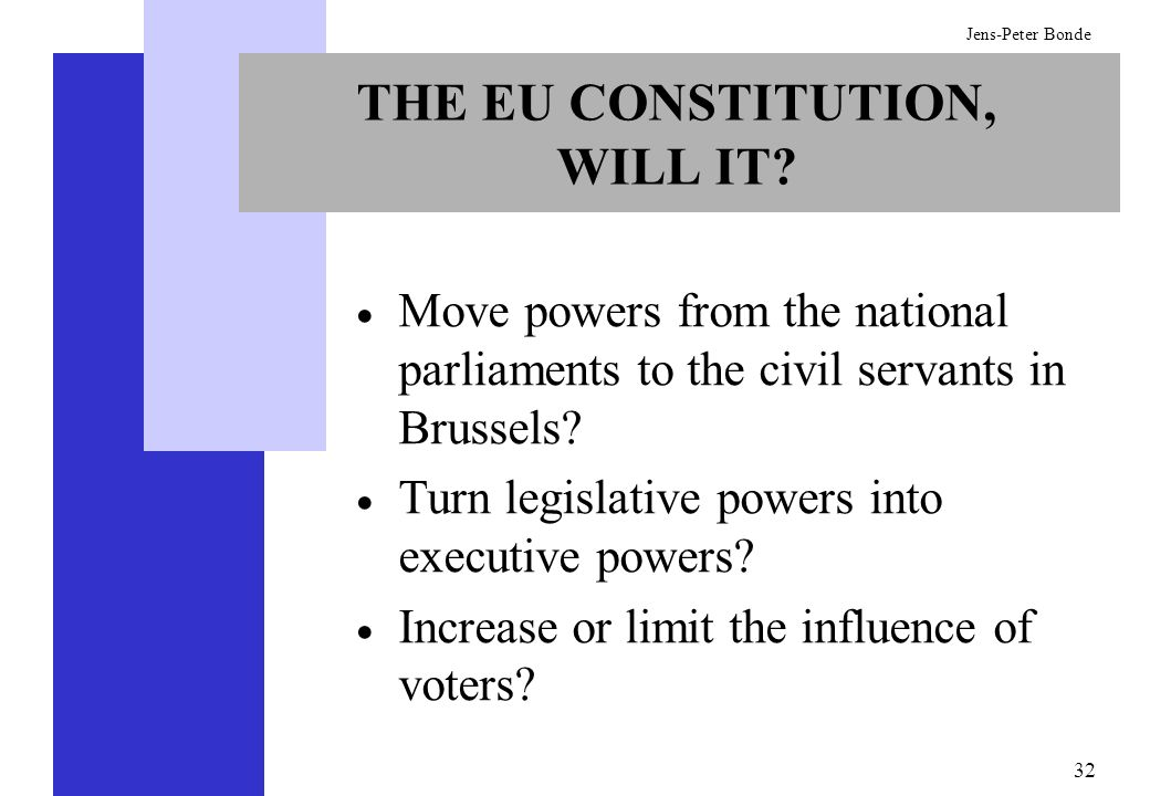 THE EU CONSTITUTION, WILL IT