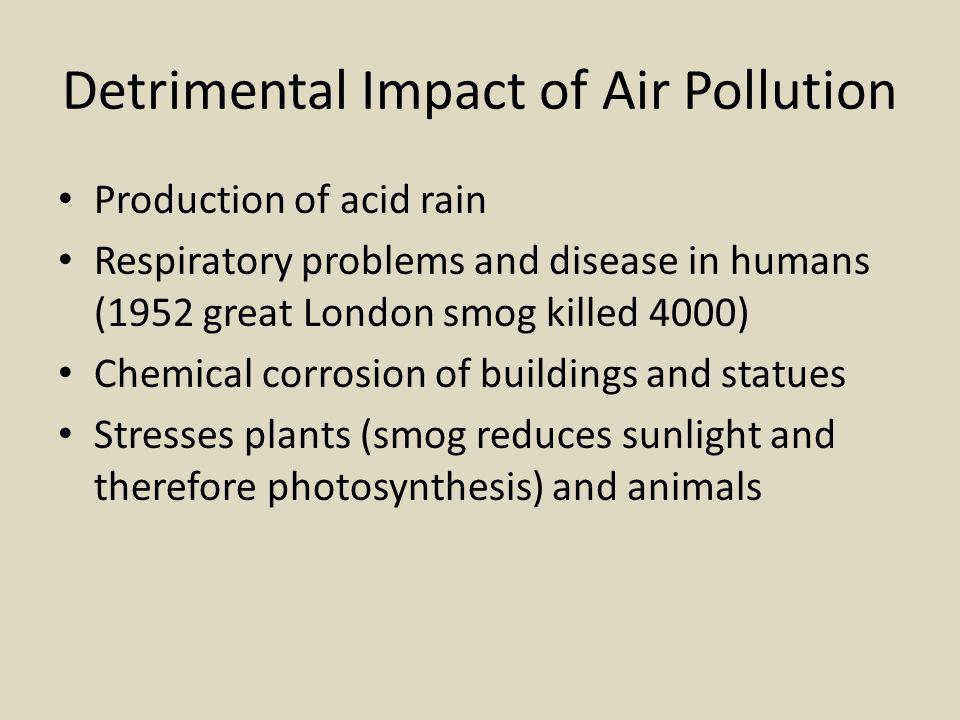 Detrimental Impact of Air Pollution