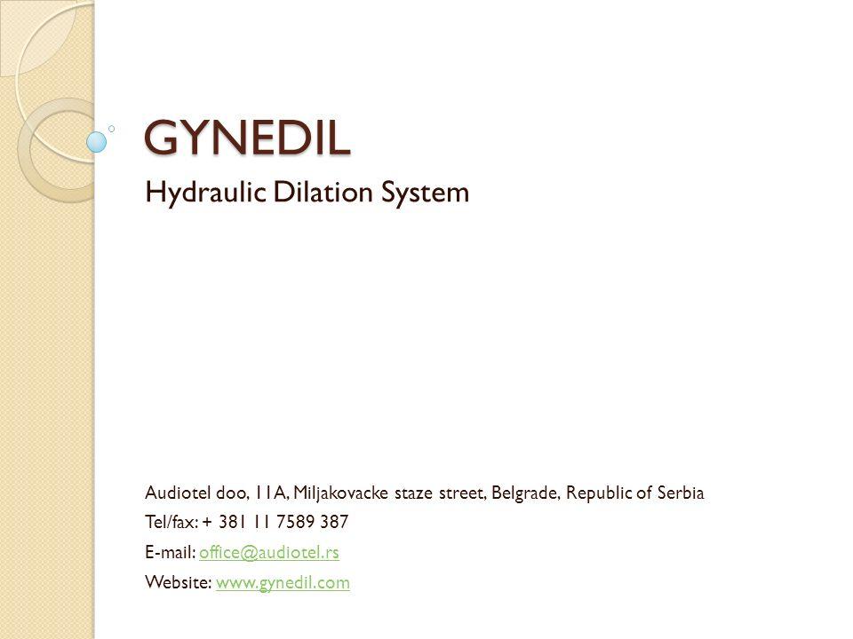 GYNEDIL Hydraulic Dilation System