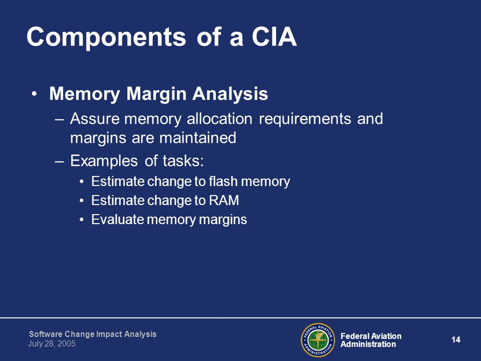 Components of a CIA Memory Margin Analysis