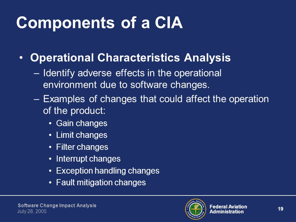 Components of a CIA Operational Characteristics Analysis