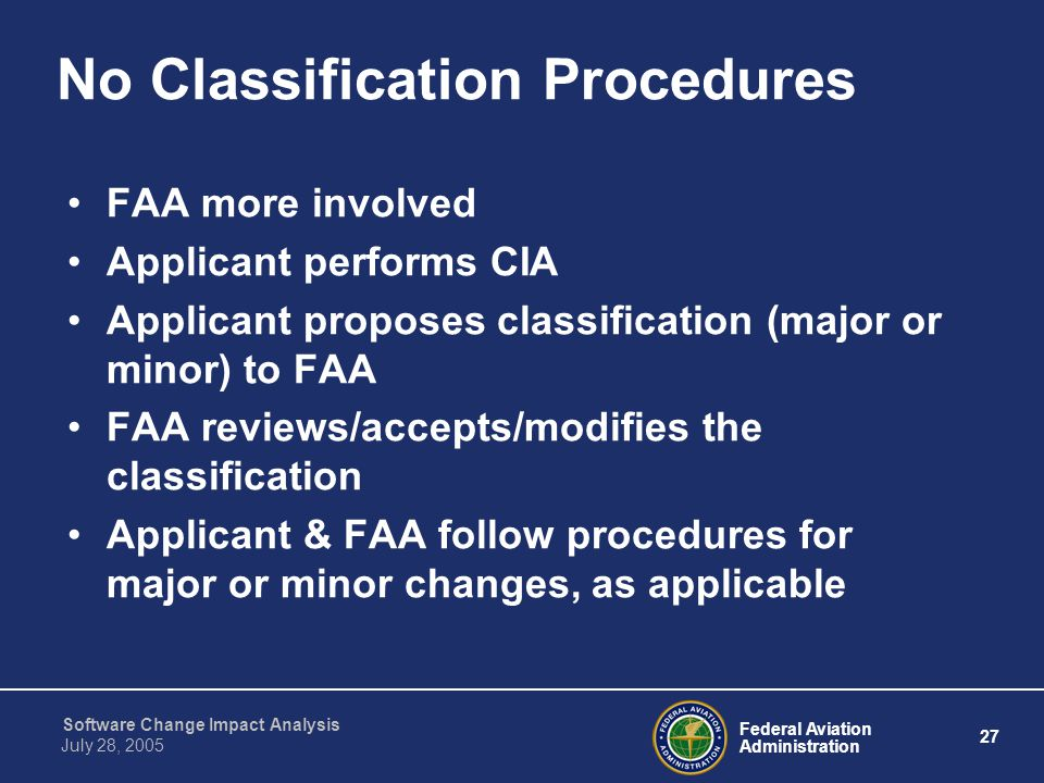 No Classification Procedures