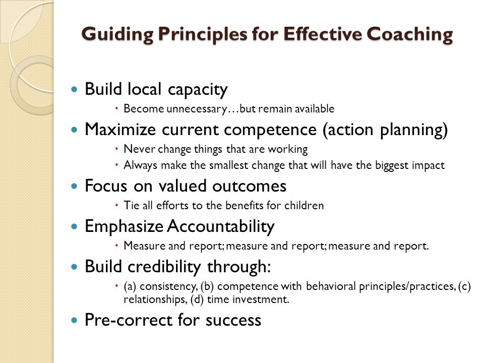 Guiding Principles for Effective Coaching
