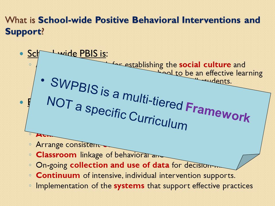What is School-wide Positive Behavioral Interventions and Support