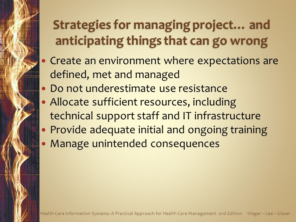 Strategies for managing project… and anticipating things that can go wrong