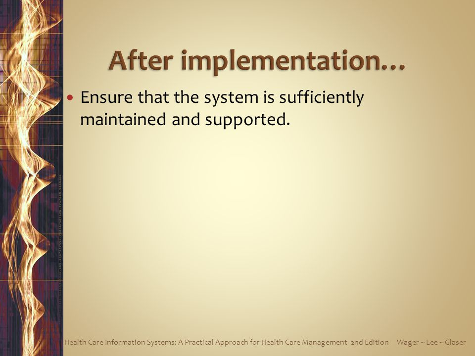 After implementation…