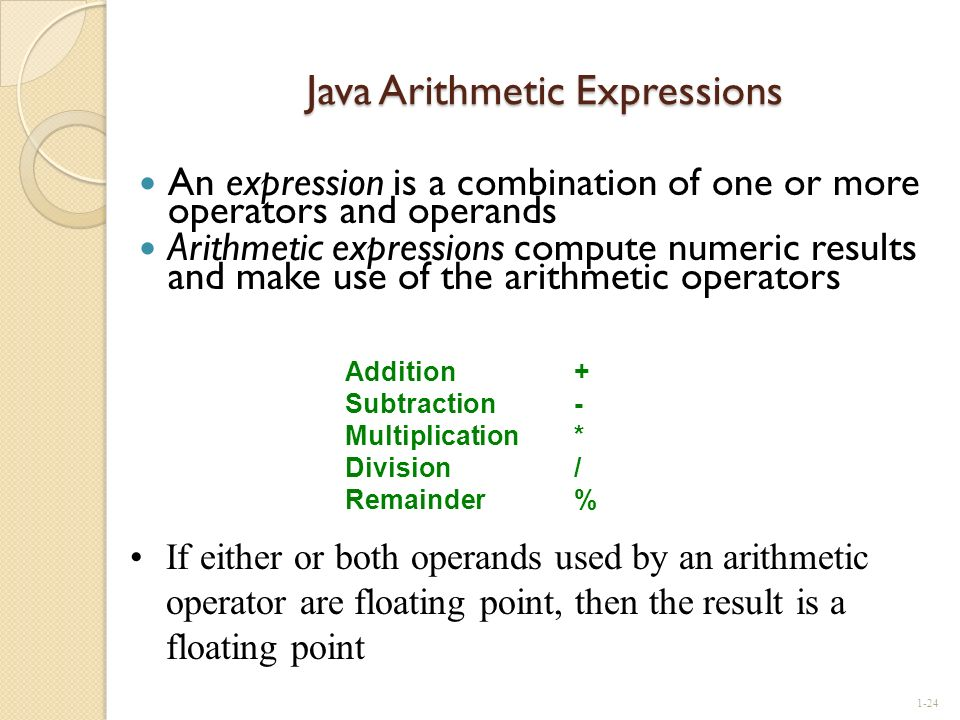 Java Arithmetic Expressions