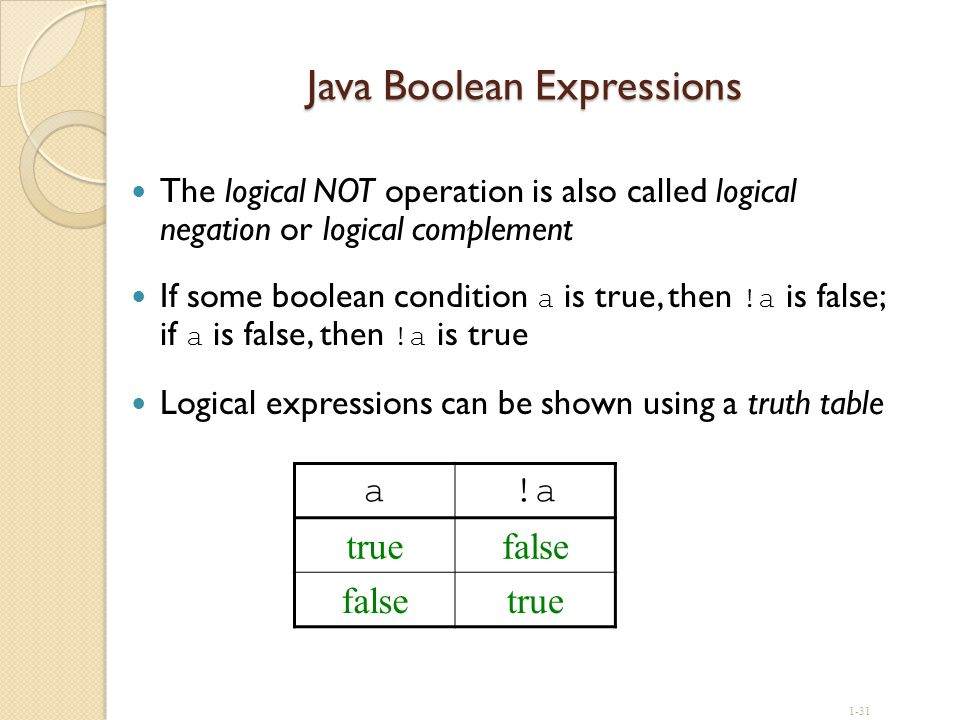 Java Boolean Expressions