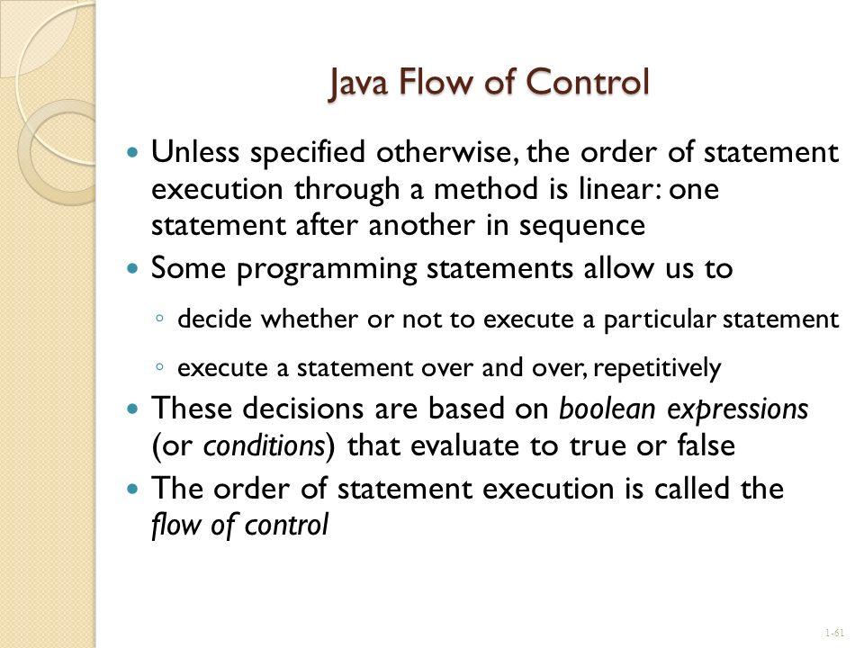 Java Flow of Control