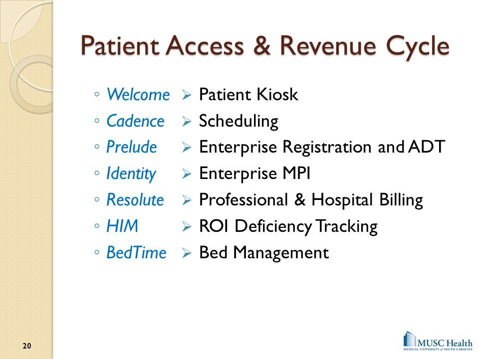 Patient Access & Revenue Cycle