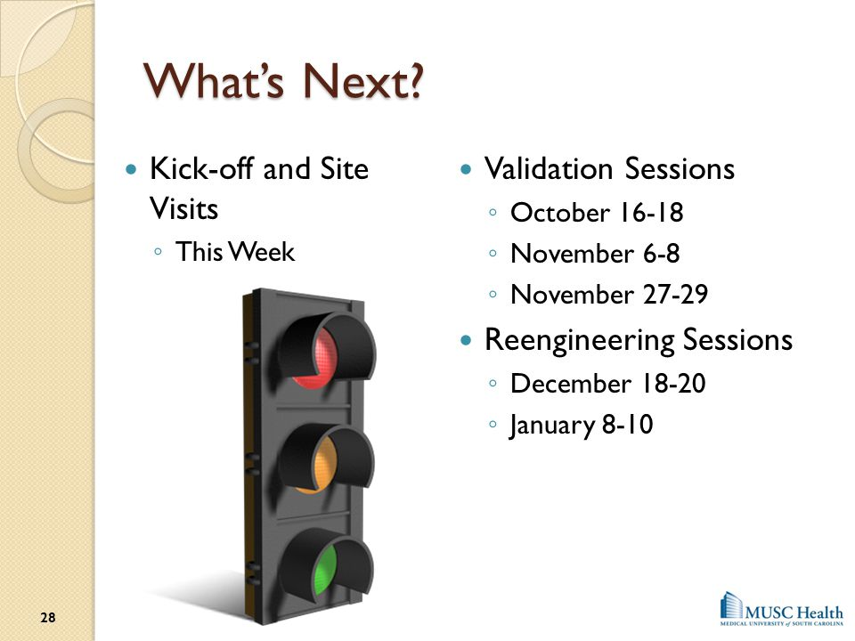 What's Next Kick-off and Site Visits Validation Sessions
