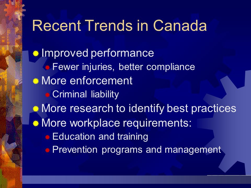 Recent Trends in Canada