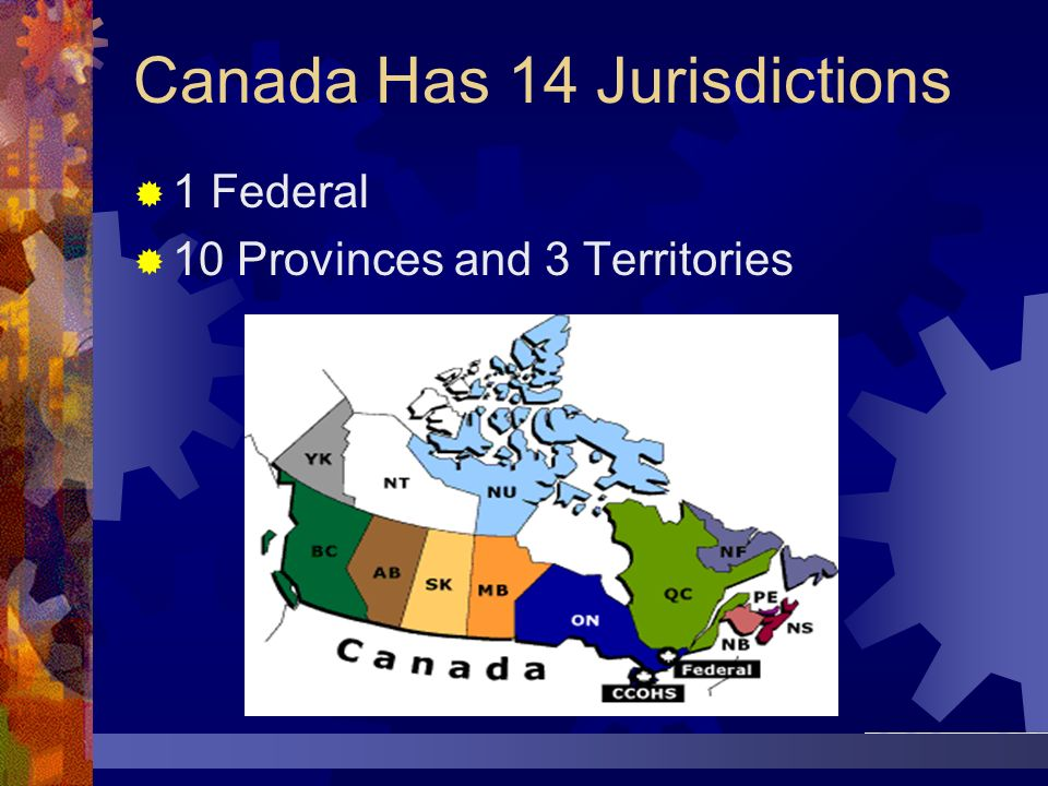 Canada Has 14 Jurisdictions