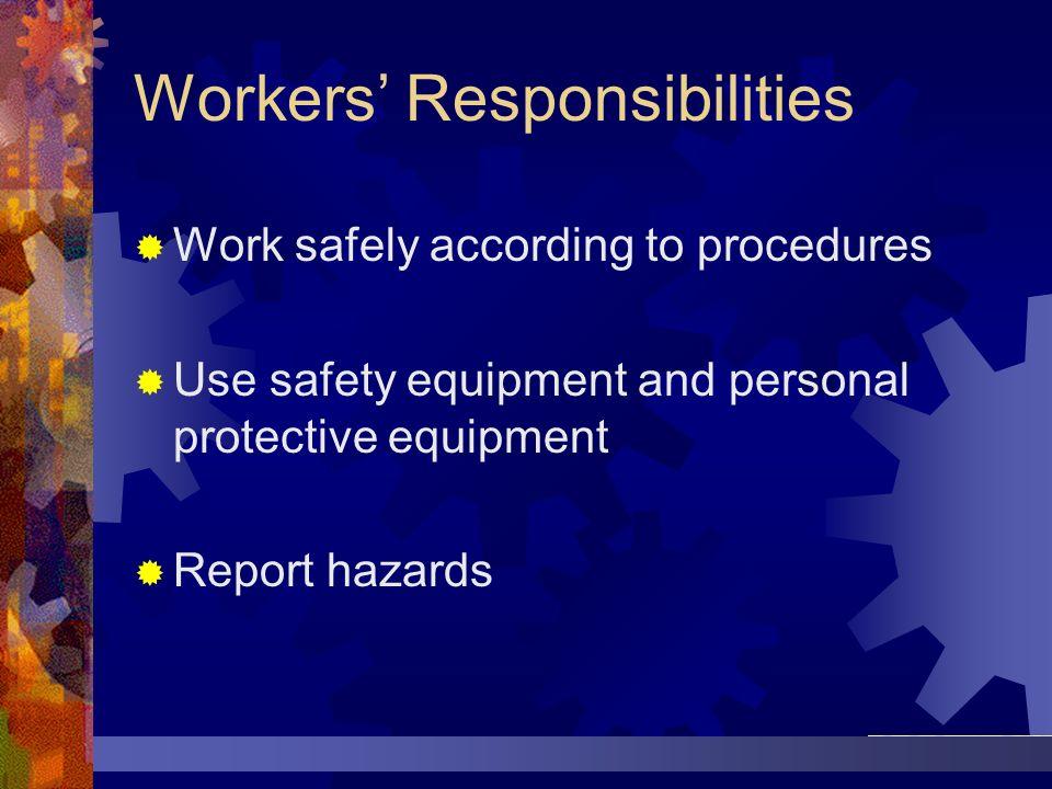Workers' Responsibilities