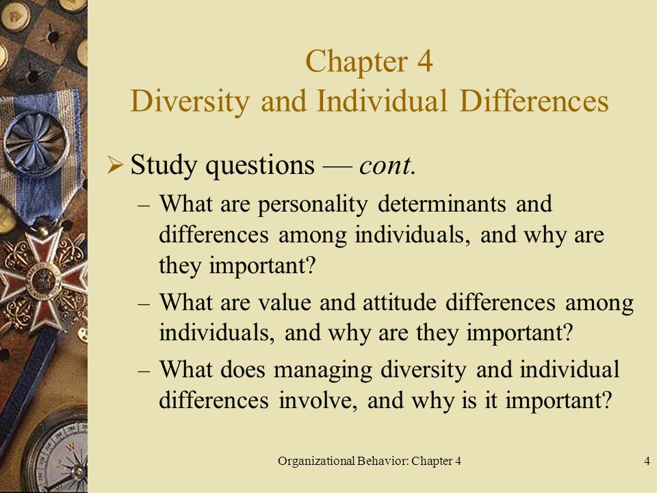 Chapter 4 Diversity and Individual Differences
