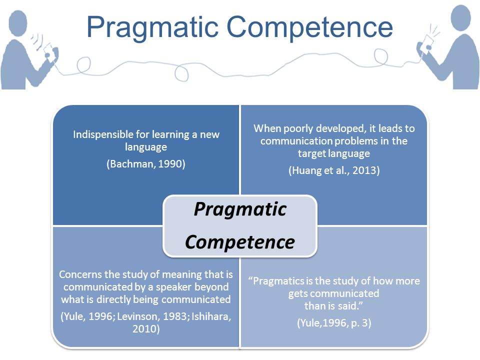Pragmatic Competence Pragmatic Competence