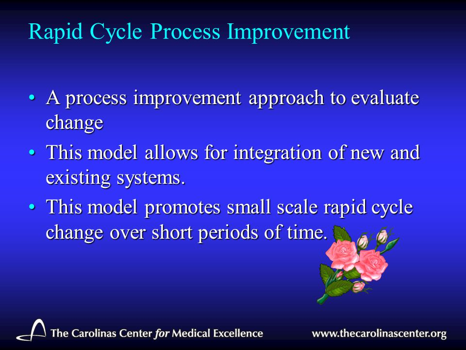Rapid Cycle Process Improvement