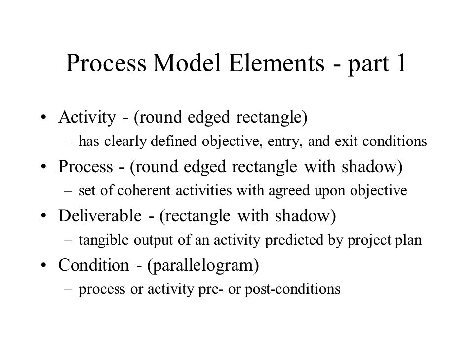 Process Model Elements - part 1