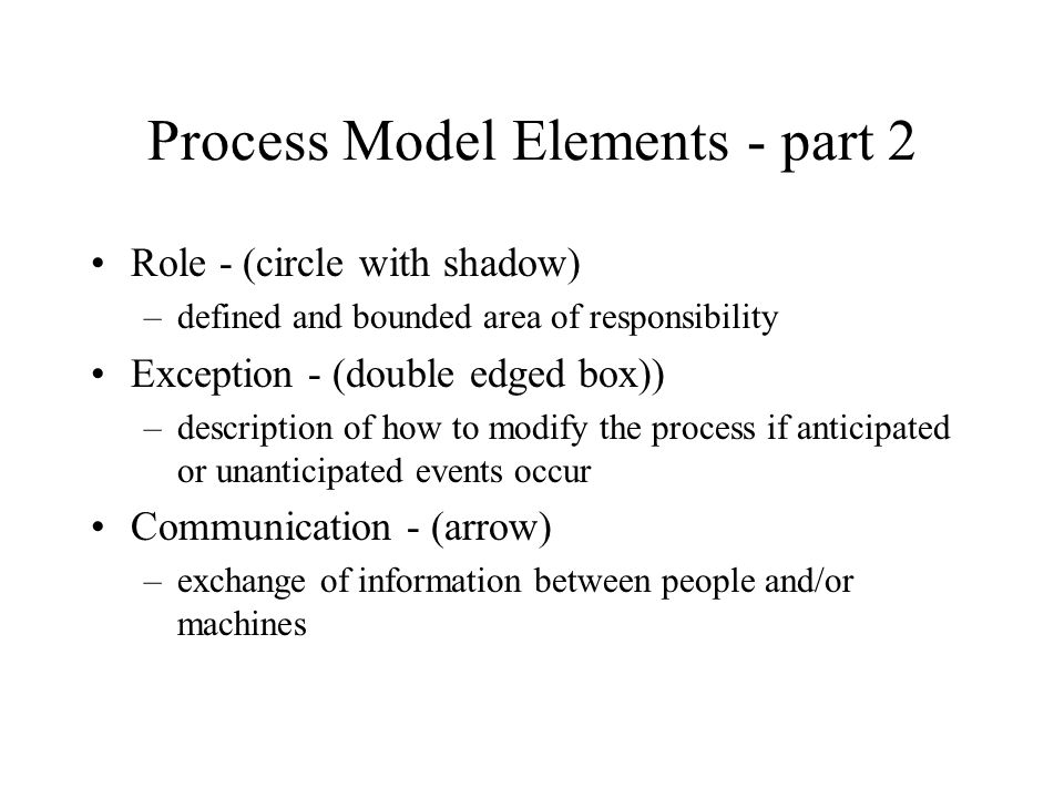 Process Model Elements - part 2