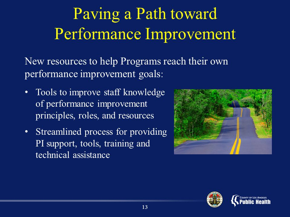Paving a Path toward Performance Improvement