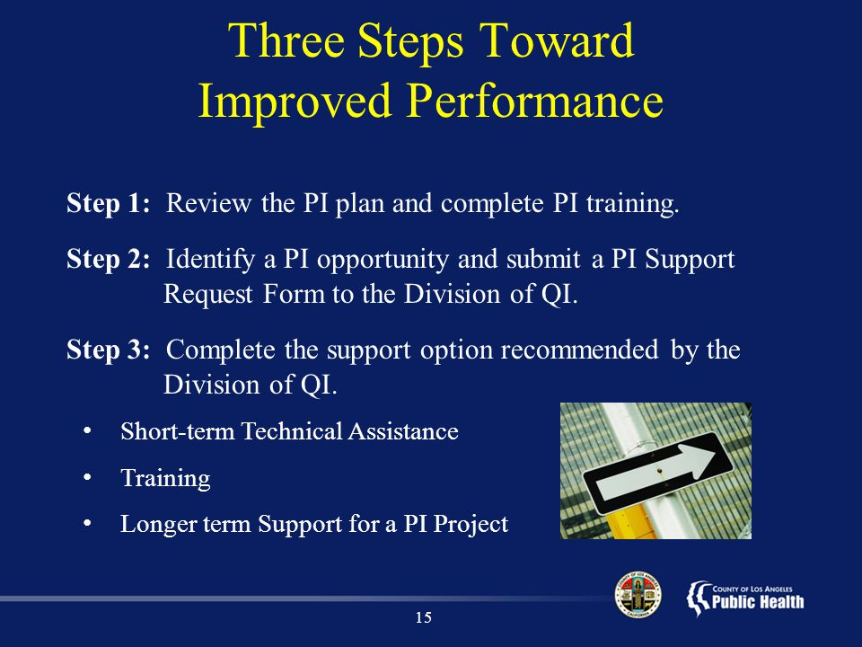Three Steps Toward Improved Performance