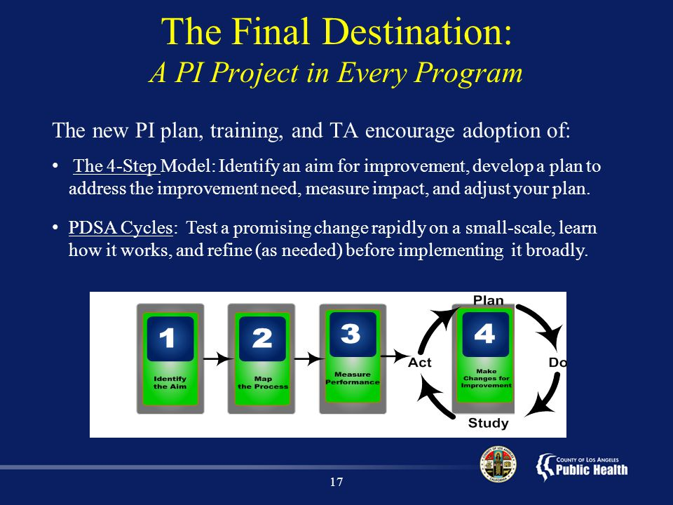 The Final Destination: A PI Project in Every Program
