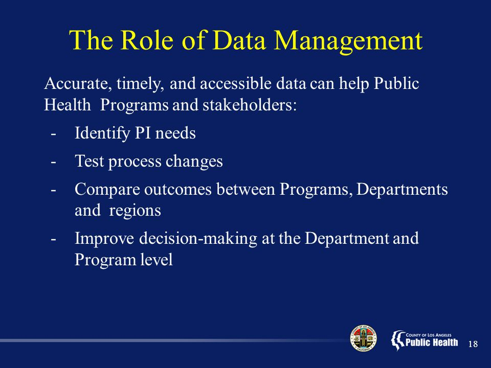 The Role of Data Management