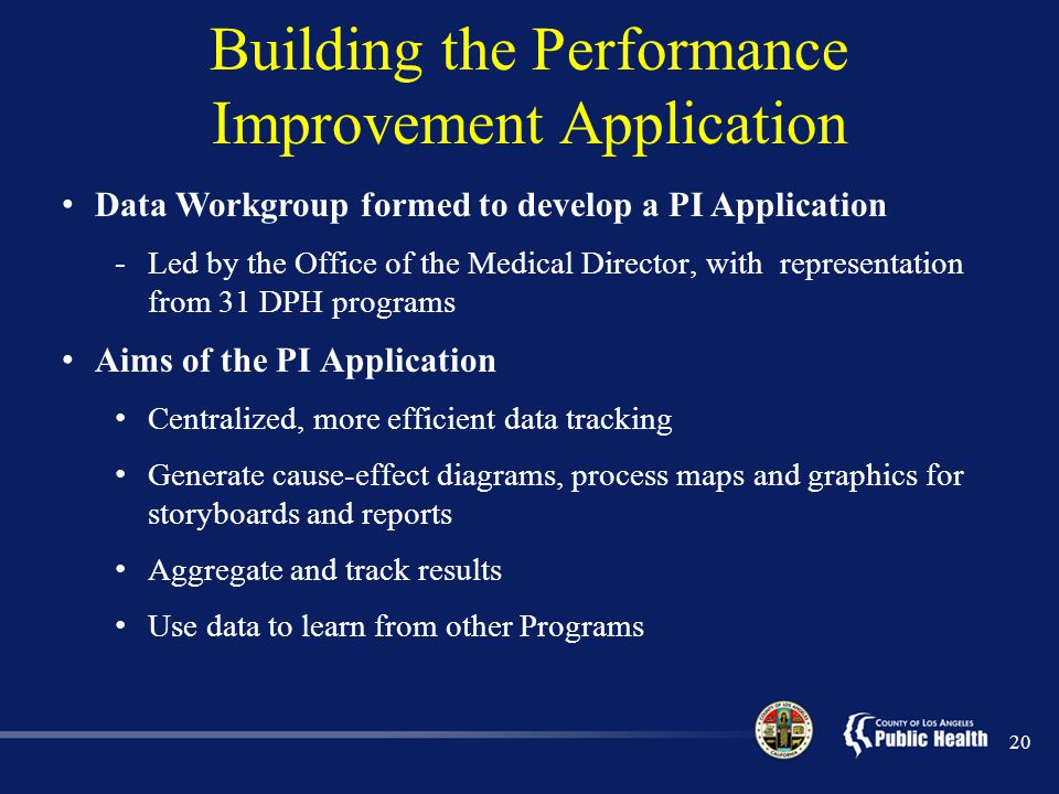 Building the Performance Improvement Application