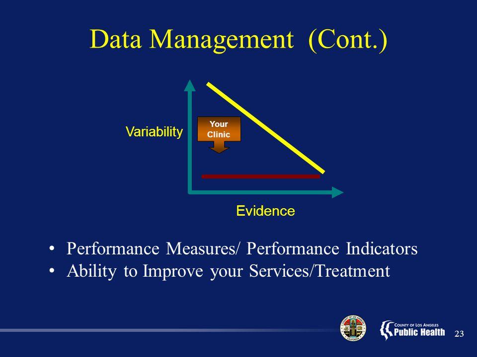 Data Management (Cont.)