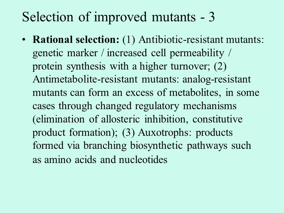 Selection of improved mutants - 3