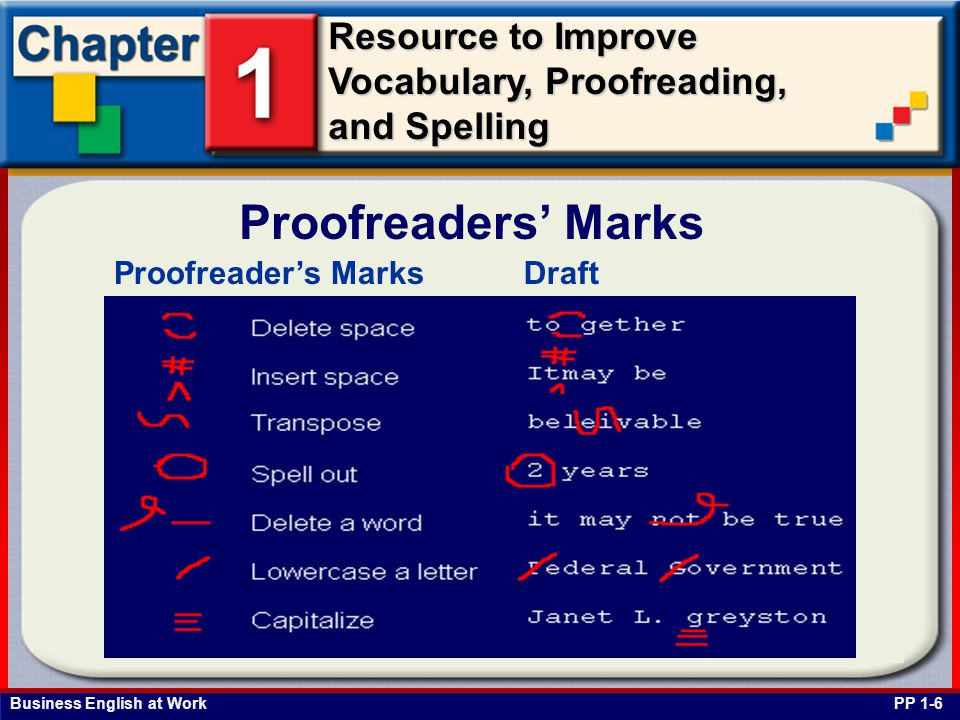 Proofreaders' Marks Proofreader's Marks Draft PP 1-6