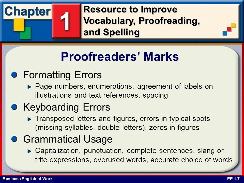 Proofreaders' Marks Formatting Errors Keyboarding Errors