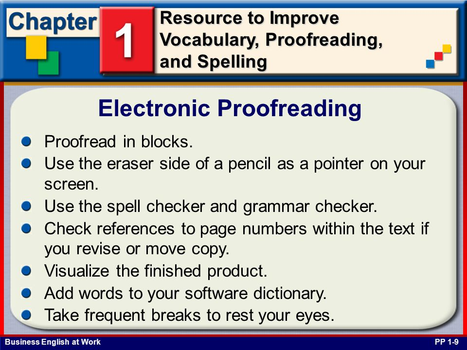 Electronic Proofreading