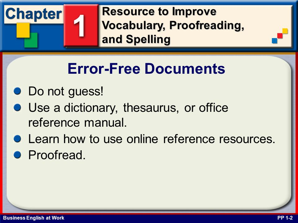 Error-Free Documents Do not guess!