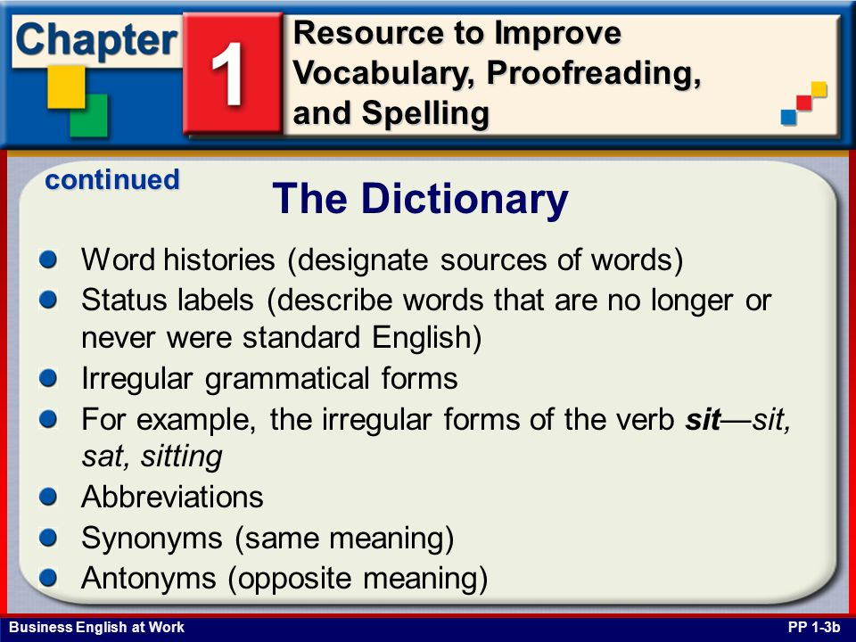 The Dictionary Word histories (designate sources of words)