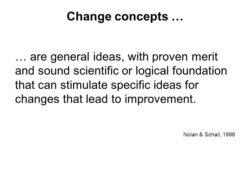 Change concepts …