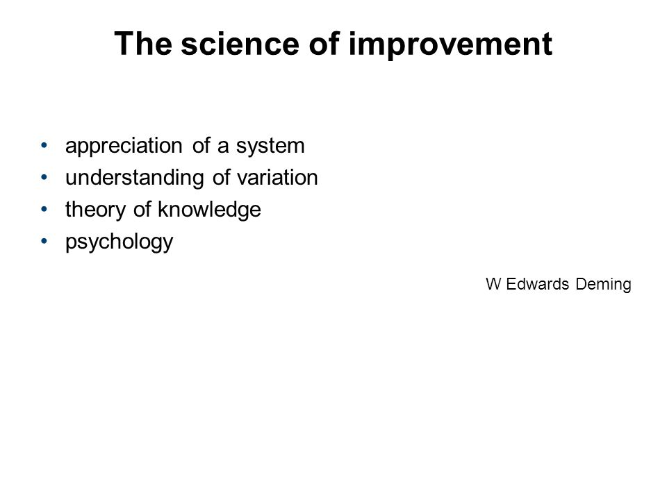 The science of improvement