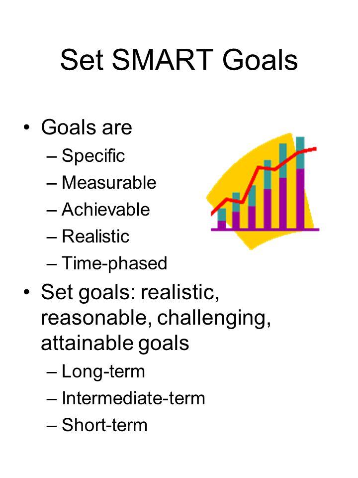 Set SMART Goals Goals are