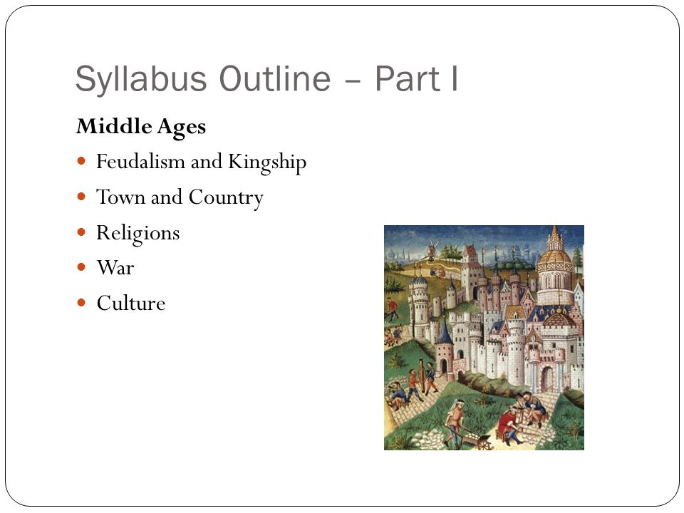 Syllabus Outline – Part I