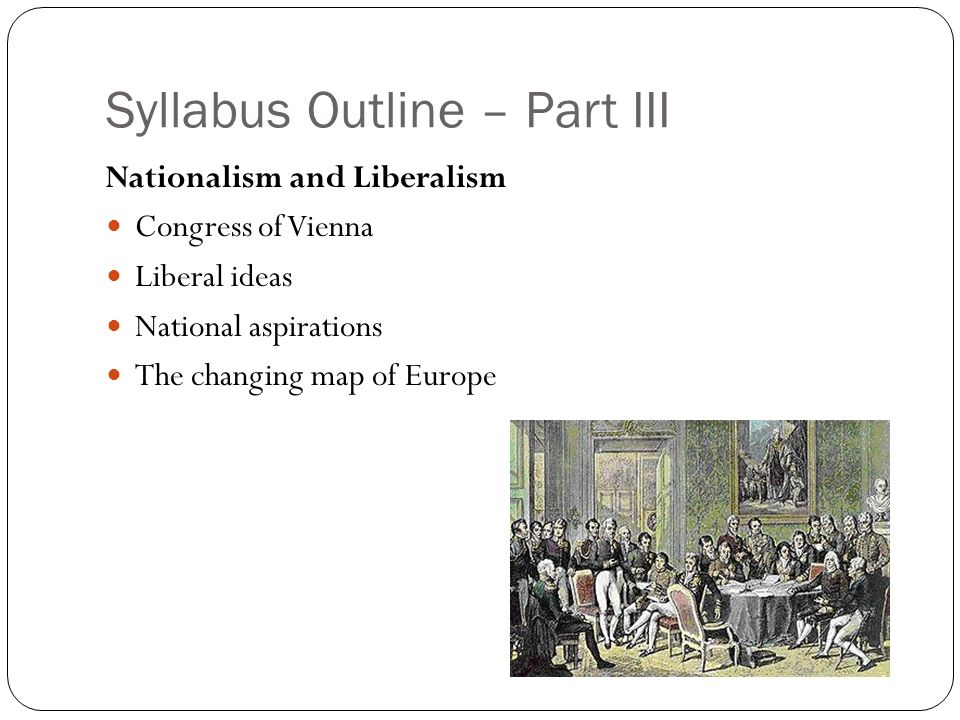 Syllabus Outline – Part III
