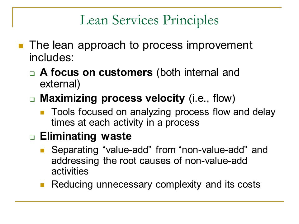 Lean Services Principles