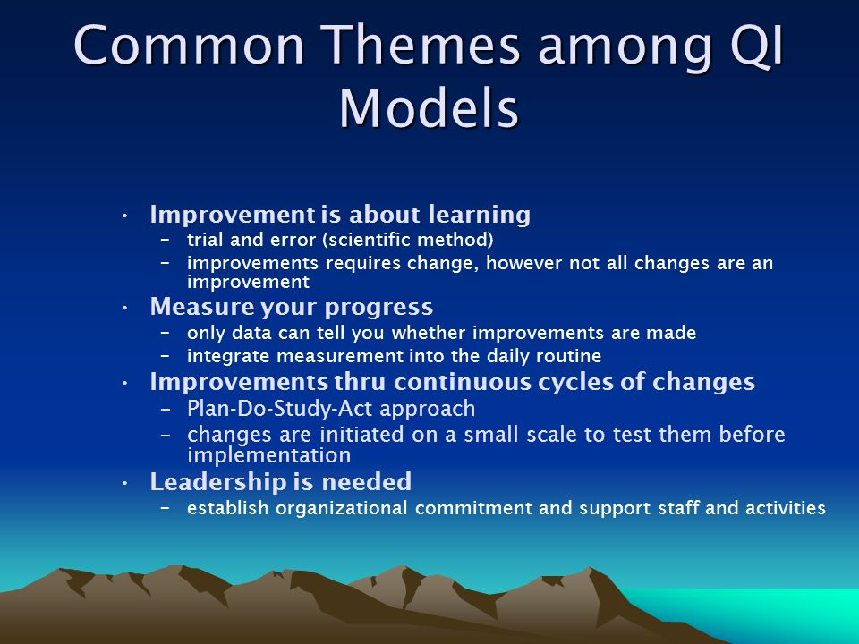 Common Themes among QI Models
