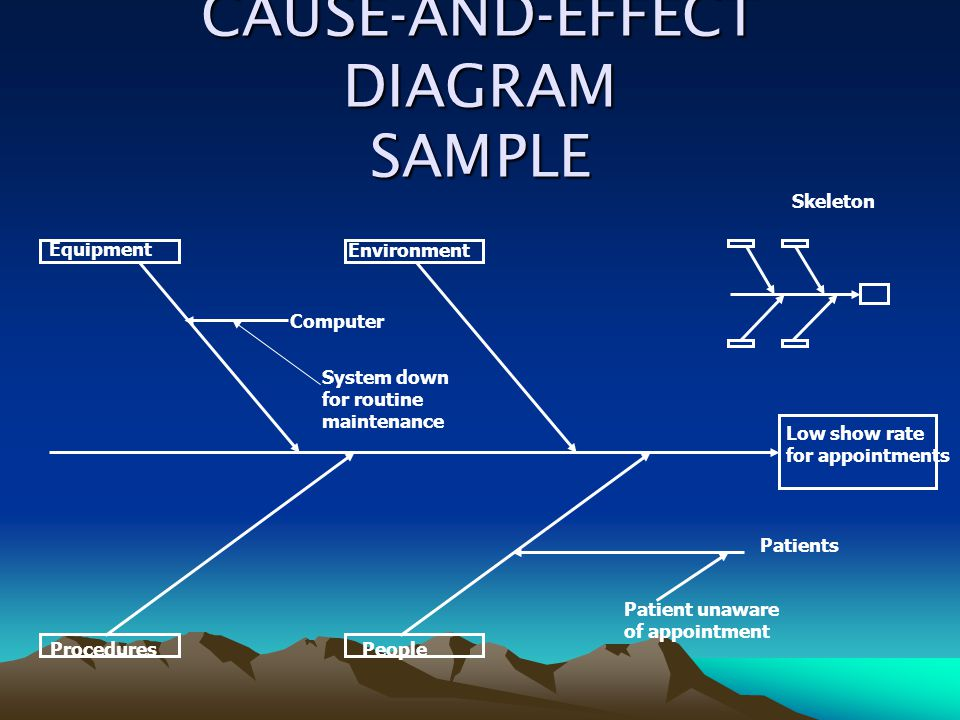 CAUSE-AND-EFFECT DIAGRAM SAMPLE