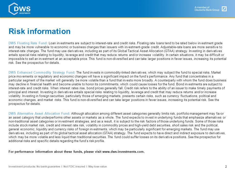 Risk information Risk information